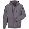 SEH4CH Charcoal Zip-Front Hooded Sweatshirt - Cotton/Spandex Blend