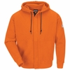 SEH4OR Orange Zip-Front Hooded Sweatshirt - Cotton/Spandex Blend