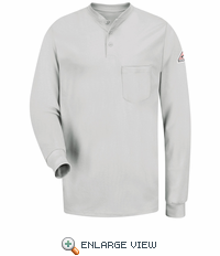 SEL2GY EXCEL- FR™ Long Sleeve Grey Henley Shirt