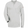 SEL2GY EXCEL- FR™ Long Sleeve Grey Henley Shirt - Discontinued