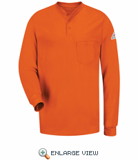 SEL2OR EXCEL- FR™ Long Sleeve Orange Henley Shirt