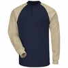 SEL4 EXCEL FR® Long Sleeve Color-Block Tagless Henley Shirt