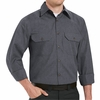 SH10CH Long Sleeve Heathered Charcoal Poplin Shirt