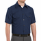 SH20NV Short Sleeve Heathered Navy Poplin Shirt