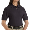 SK11BK  Ladies Black  Cotton/Polyester Blend Pique Knit Shirt-Pocketless
