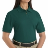 SK11EM  Ladies Emerald Cotton/Polyester Blend Pique Knit Shirt-Pocketless