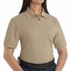 SK11KH Ladies Khaki Cotton/Polyester Blend Pique Knit Shirt-Pocketless