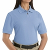 SK11LB Ladies Light Blue Cotton/Polyester Blend Pique Knit Shirt-Pocketless