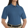 SK11MB Ladies Marine Blue Cotton/Polyester Blend Pique Knit Shirt-Pocketless