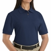 SK11NV Ladies Navy Cotton/Polyester Blend Pique Knit Shirt-Pocketless