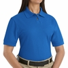 SK11RB Ladies Royal Blue Blended Pique Knit Shirt-Pocketless