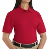 SK11RD Ladies Red Cotton/Polyester Blend Pique Knit Shirt-Pocketless