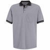 SK14GB Short Sleeve Lt. Gray/Black Performance Knit® Polo Contrast Trim
