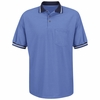 SK50MB Short Sleeve Med. Blue Performance Knit Raised Jersey Shirt