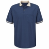 SK50NV Short Sleeve Navy Performance Knit Raised Jersey Shirt