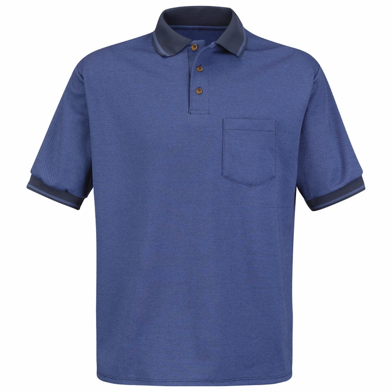 Sk52 Short Sleeve Performance Knit Polo Twill Shirt 4 Colors
