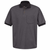SK52BK Short Sleeve Black/Charcoal Performance Knitï Twill Polo Shirt