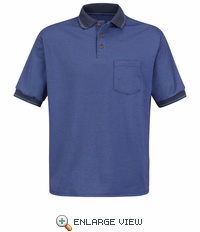 SK52NV Short Sleeve Navy/Med. Blue Performance Knit® Twill Polo Shirt