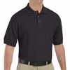 SK72BK Cotton/Polyester Black Blend Knit Pique Shirt-Pocketless