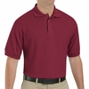 SK72BU Cotton/Polyester Burgundy Blend Knit Pique Shirt-Pocketless