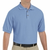 SK72LB Cotton/Polyester Light Blue Blend Knit Pique Shirt-Pocketless