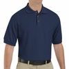 SK72NV Cotton/Polyester Navy Blend Knit Pique Shirt-Pocketless