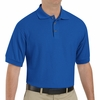 SK72RB Cotton/Polyester Royal Blue Blend Knit Pique Shirt-Pocketless