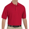 SK72RD Cotton/Polyester Red Blend Knit Pique Shirt-Pocketless