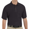 SK82BK Cotton/Polyester Black Blend Knit Pique Shirt-With Pocket