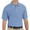 SK82LB Cotton/Polyester Light Blue Blend Knit Pique Shirt-With Pocket