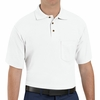 SK82WH Cotton/Polyester White Blend Knit Pique Shirt-With Pocket
