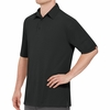SK90BK Men's Customer Facing Professional Black Polo