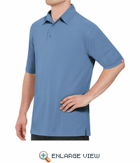 SK90MB Men's Customer Facing Professional Medium Blue Polo