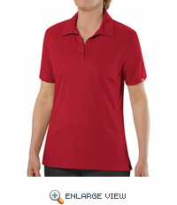 SK91RD Female Customer Facing Professional Red Polo