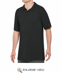 SK92BK Male Active Performance Black Polo