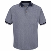SK94NV Navy/Cream Performance Knit® Birdseye Polo w/Pocket