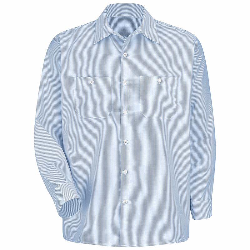 White and blue striped shirt is shirt for Blue and white long sleeve shirt