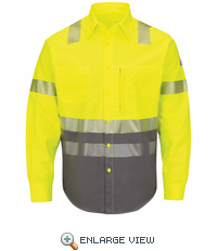 SLB4HG Hi-Visibility Color Block Uniform Yellow/Black Shirt - EXCEL FR®