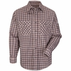 SLD6BG Excel Flame Resistant ComforTouch Burgundy/Teal Plaid Uniform Shirt