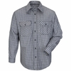 SLD6NK Excel Flame Resistant ComforTouch Navy/Khaki Plaid Uniform Shirt