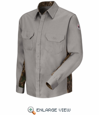 SLU4GY Camo Grey Uniform Shirt - EXCEL FR® ComforTouch® - 6 oz.
