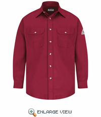SLU6RD EXCEL- FR™ COMFORTOUCH™ Red Dress Uniform Shirt