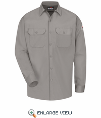 SLW2GY EXCEL- FR™ COMFORTOUCH® Grey Button Front Work Shirt