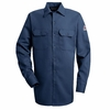 SLW2NV EXCEL- FR™ COMFORTOUCH® Navy Button Front Work Shirt