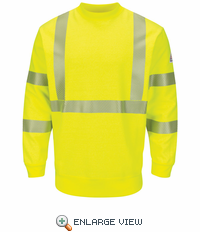 SMC4HV Hi-Visibility Yellow Crewneck Fleece Sweatshirt