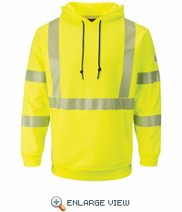 SMH4HV Hi-Vis Yellow Pullover Hooded Fleece Sweatshirt - CAT 2