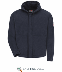 SMH6NV - Modacrylic Fleece Zip-front Navy Hooded Sweatshirt