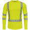 SMK2HV  Hi-Visibility Power Dry® FR Flame-Resistant Long Sleeve Yellow/Green T-Shirt