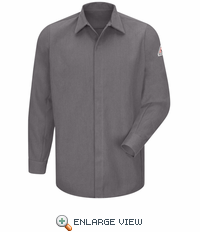 SMS2GY CoolTouch® Concealed-Gripper Pocketless Grey Shirt