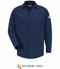 SMS2NV CoolTouch® Concealed-Gripper Pocketless Navy Shirt
